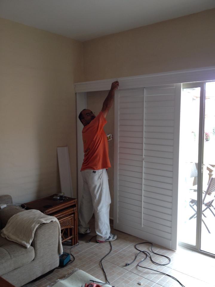 shutter corredisa, montaje corrediso a pared